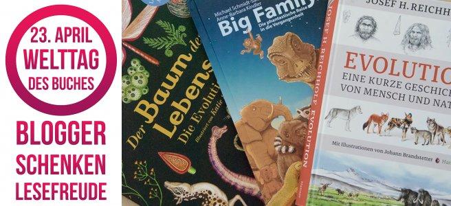 Logo Blogger schenken Lesefreude & drei Buchcover